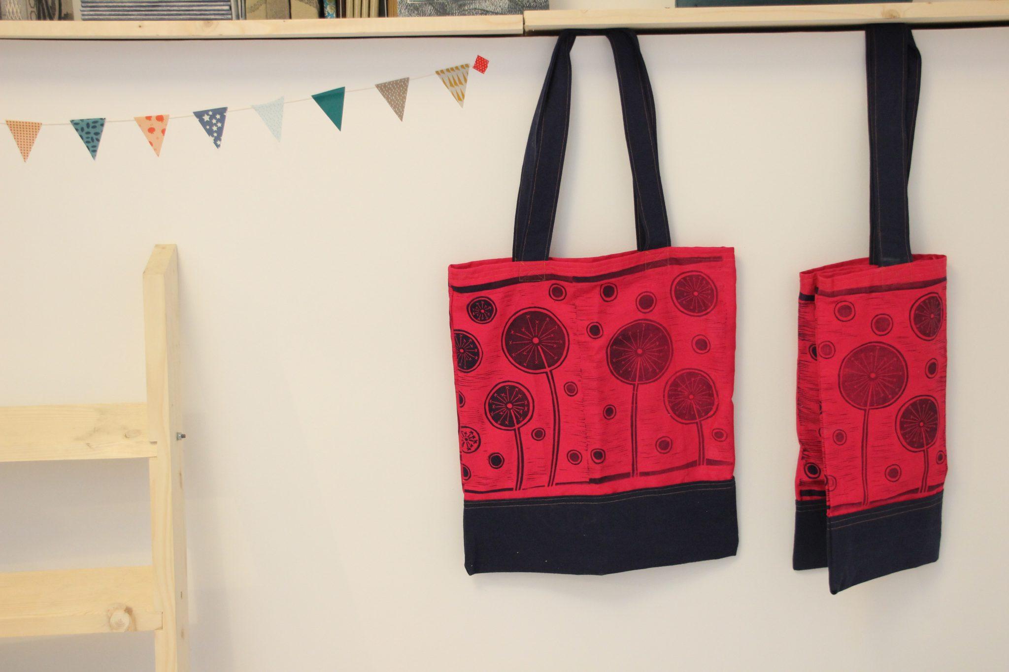 sacs | atelier | LinoLino | Linogravure | Créations artisanales