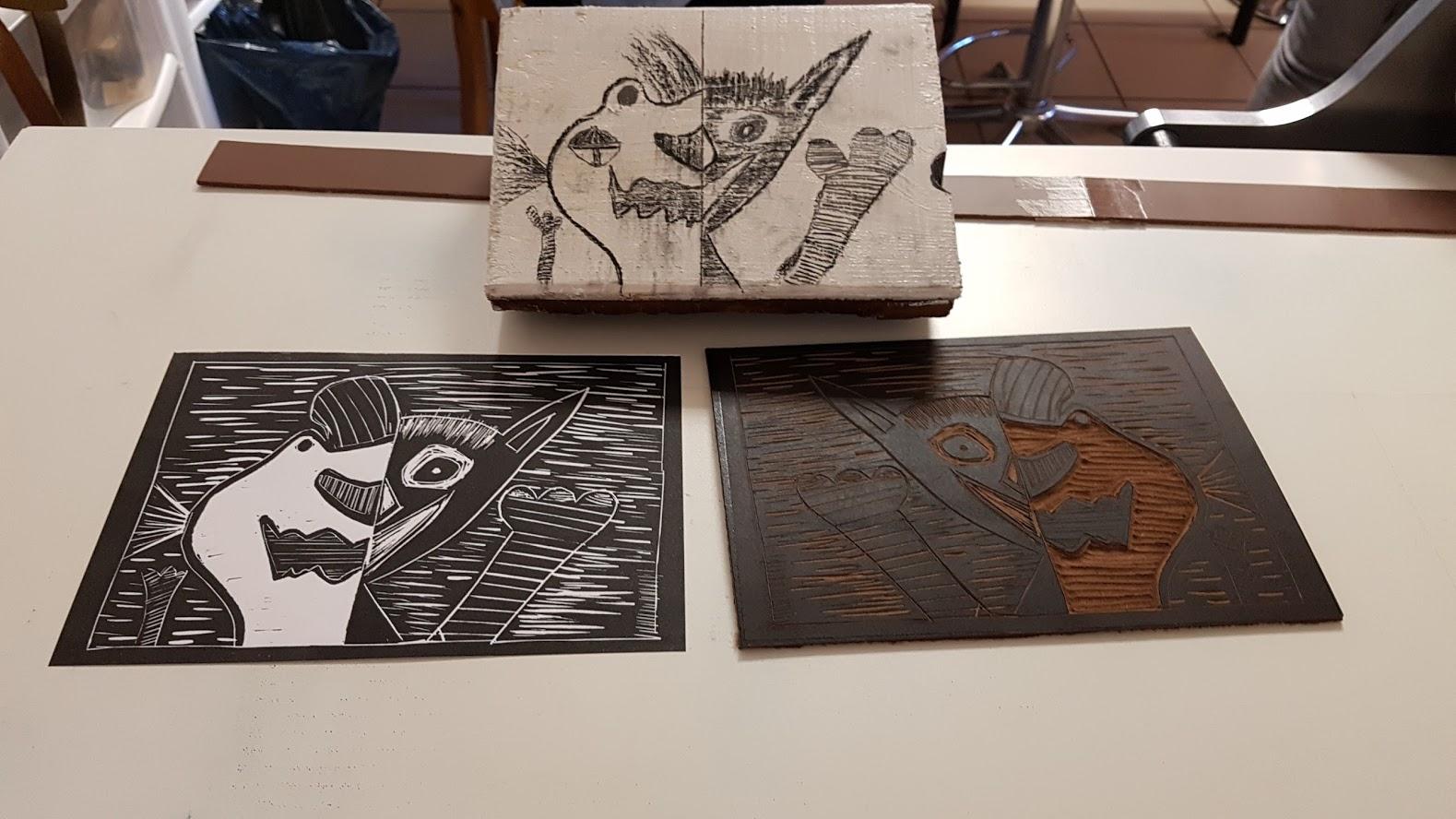 LinoLino | Linogravure et créations à partir d'impressions artisanales | Chambéry, France | Atelier Linogravure Association La Parenthèse, Espalion