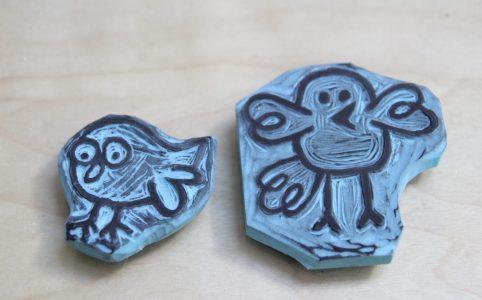 LinoLino | Linogravure et créations à partir d'impressions artisanales | Chambéry, France | Gravure de tampons, gravure sur gomme
