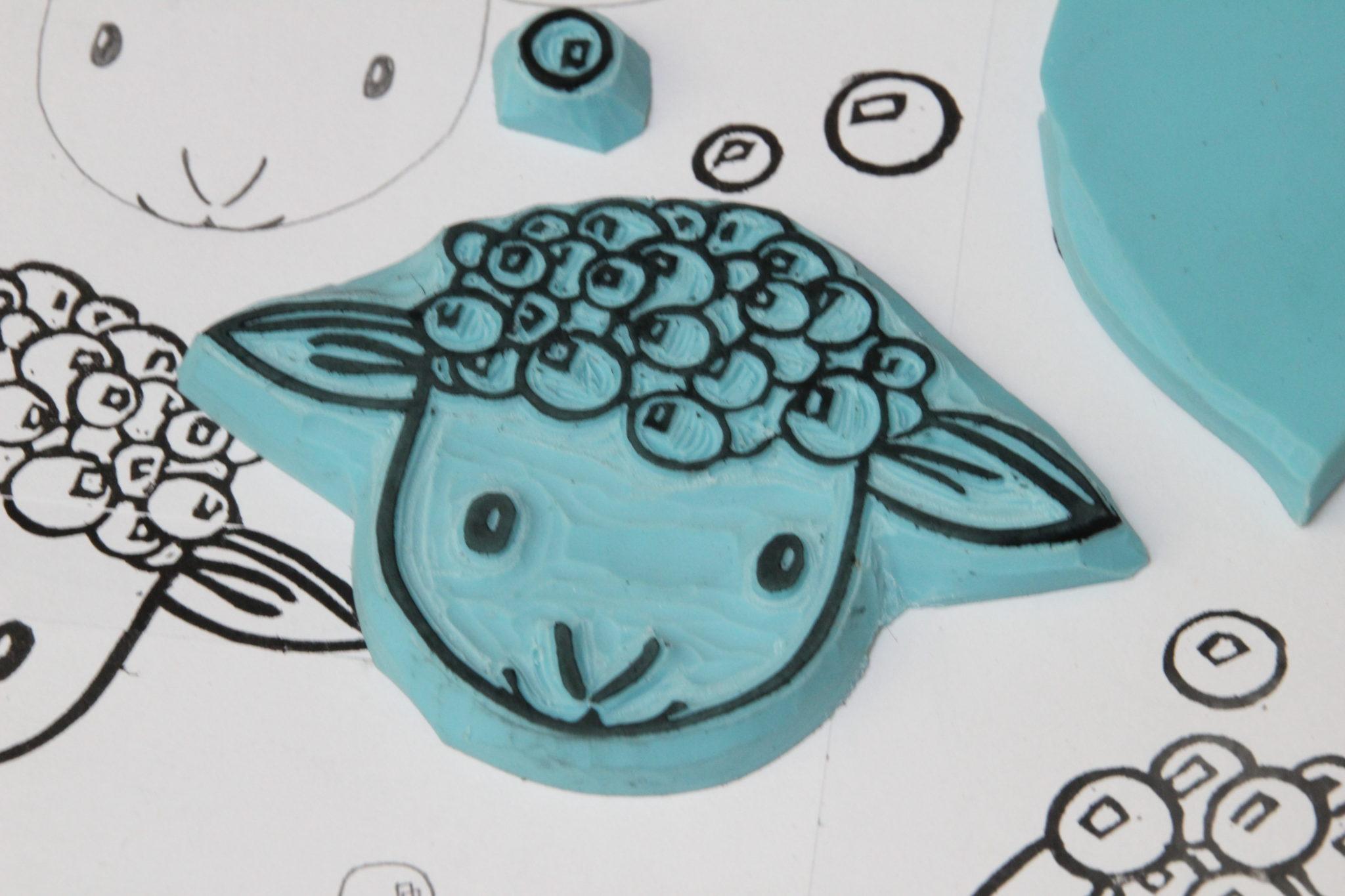 LinoLino   Linogravure et créations à partir d'impressions artisanales   Chambéry, France   Gravure de tampons, gravure sur gomme