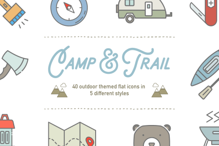Camp & Trail Icon Set