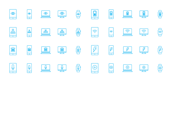 Mobile Desktop Laptop Icons 6