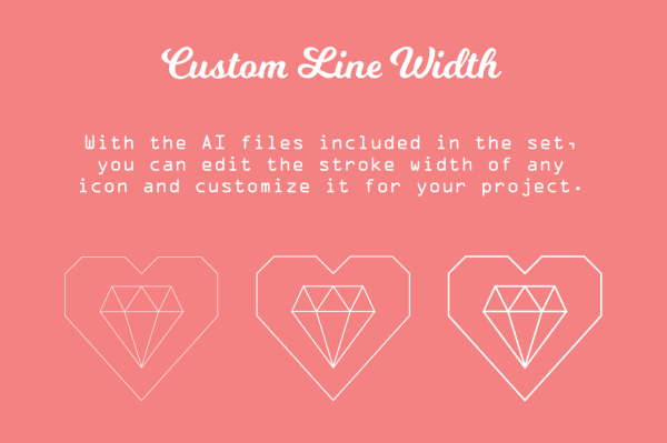 Simple-Hearted Vector Icon Set 2
