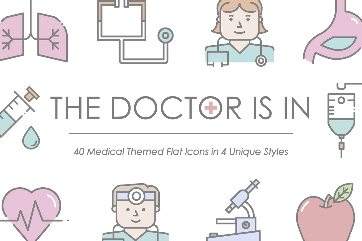 The Doctor Is In Icon Set