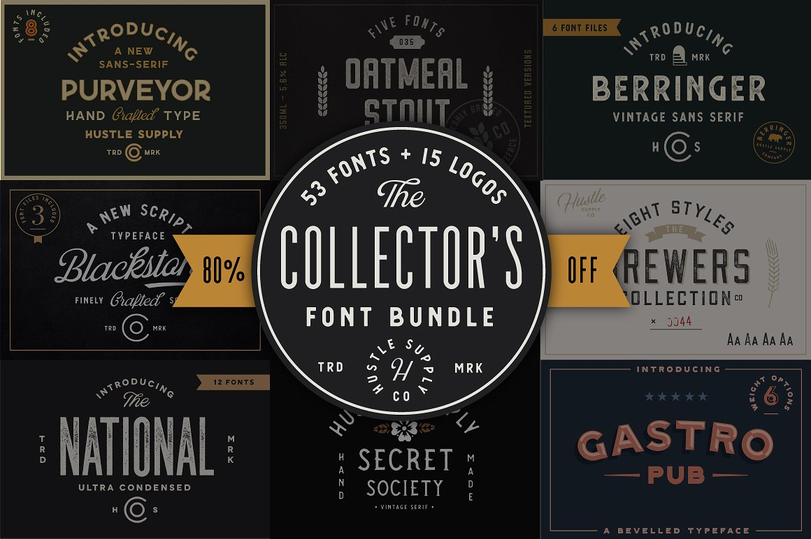 Jeremy Vessey Collector's Font Bundle