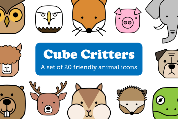 Cube Critters Animal Icons