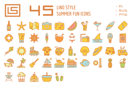Summer Fun Icon Set 1