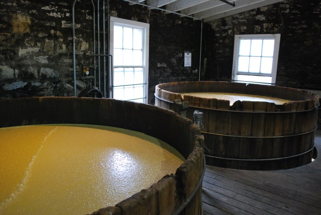 The sour mash at Woodford Reserve