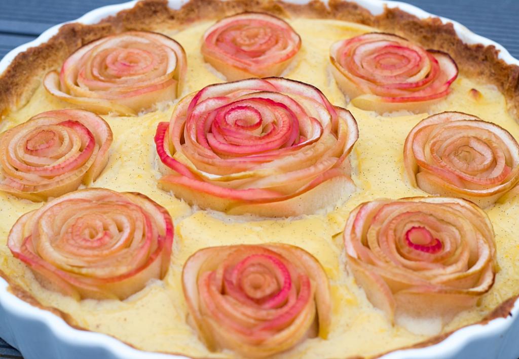 Apferosen Tarte, Tarte, Apfelkuchen, Apfeltarte, Rezept, Dessert, Vanillecreme, Blogger, Food, Essen