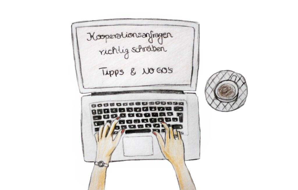 Kooperationsanfragen, Kooperationen, Blogger Kooperationen, Instagramkooperation, Kooperationsanfragen richtig schreiben, Unternehmen anschreiben, Zeichnung, Blogger, Instagram, deutscher Blog, Modeblog aus Deutschland