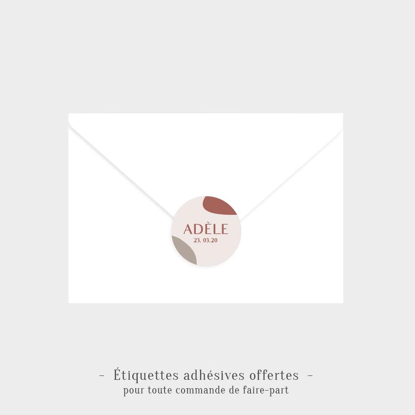 Etiquettes adhésives Céleste offertes