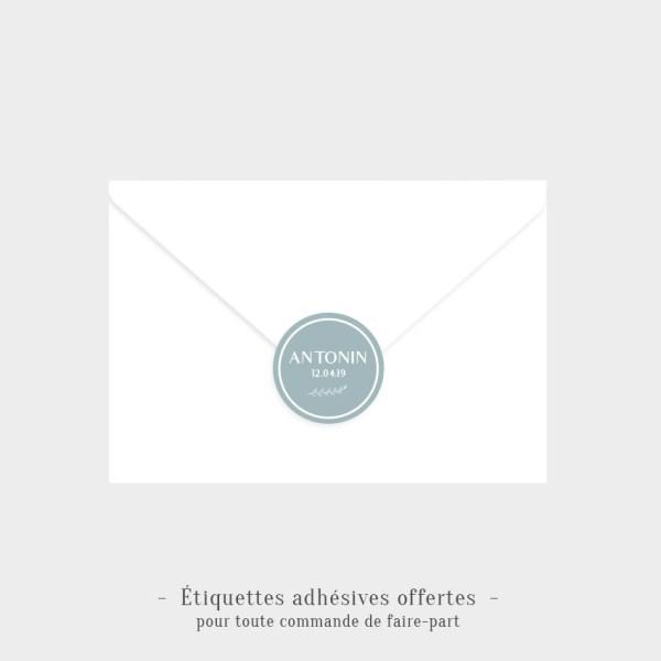 Etiquettes adhésives Cocon offertes