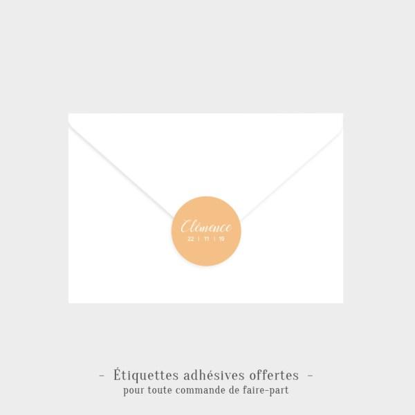 Etiquettes adhésives Douceur offertes