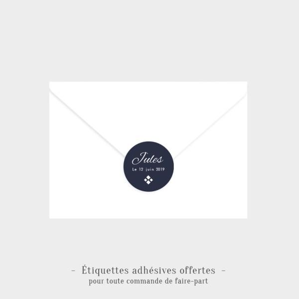 Etiquettes adhésives Saphir offertes
