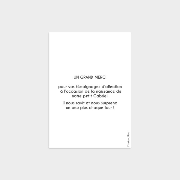 Carte de remerciement Élégant