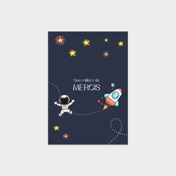 Carte de remerciement Étoile