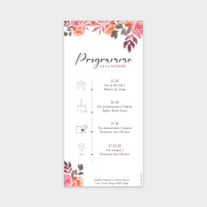 Carte faire-part Bouquet