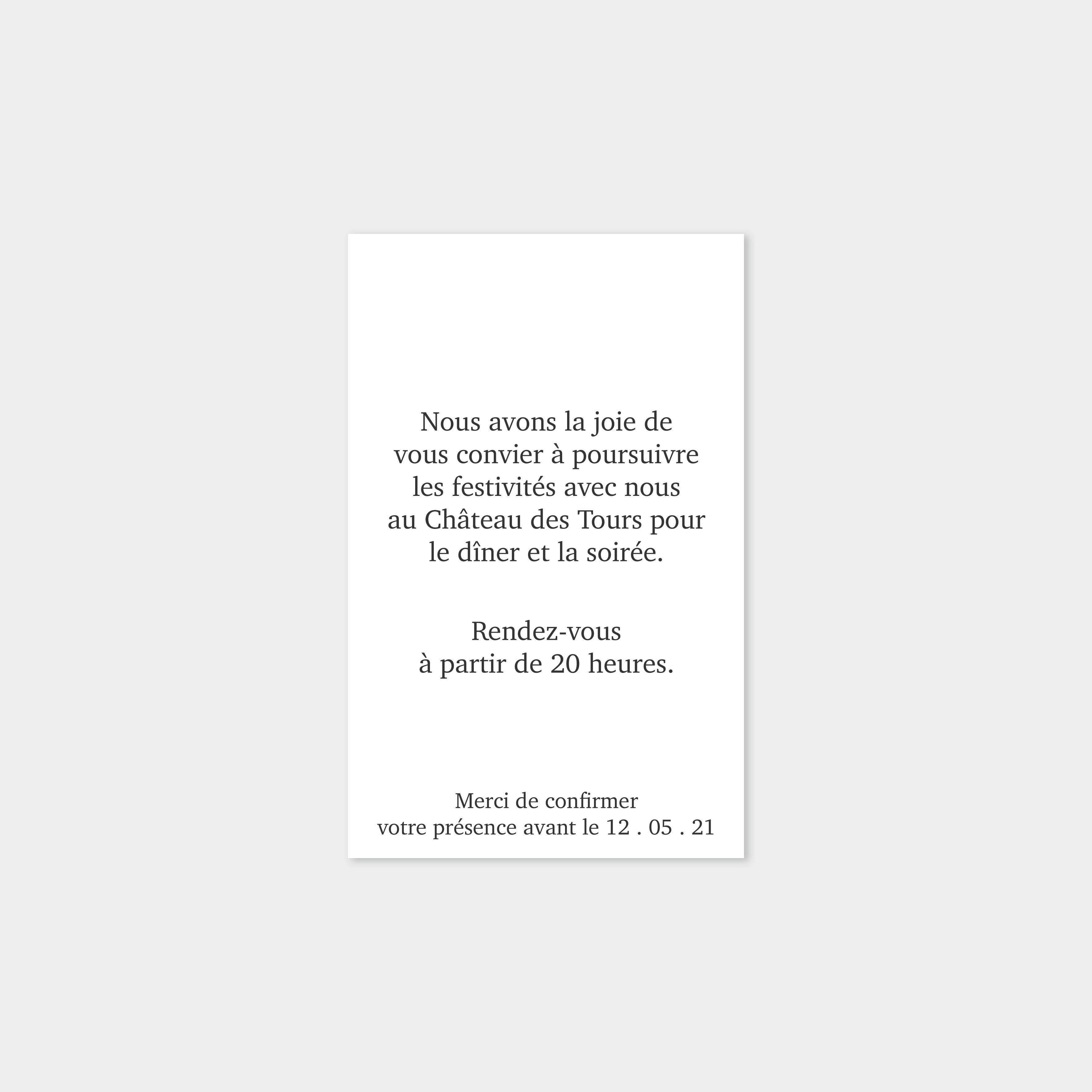 Carton repas Histoire d'amour rubis