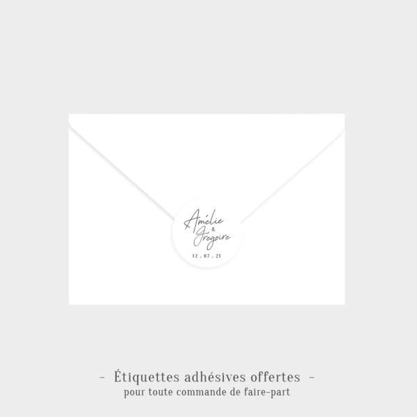 Etiquettes adhésives Douce alliance offertes
