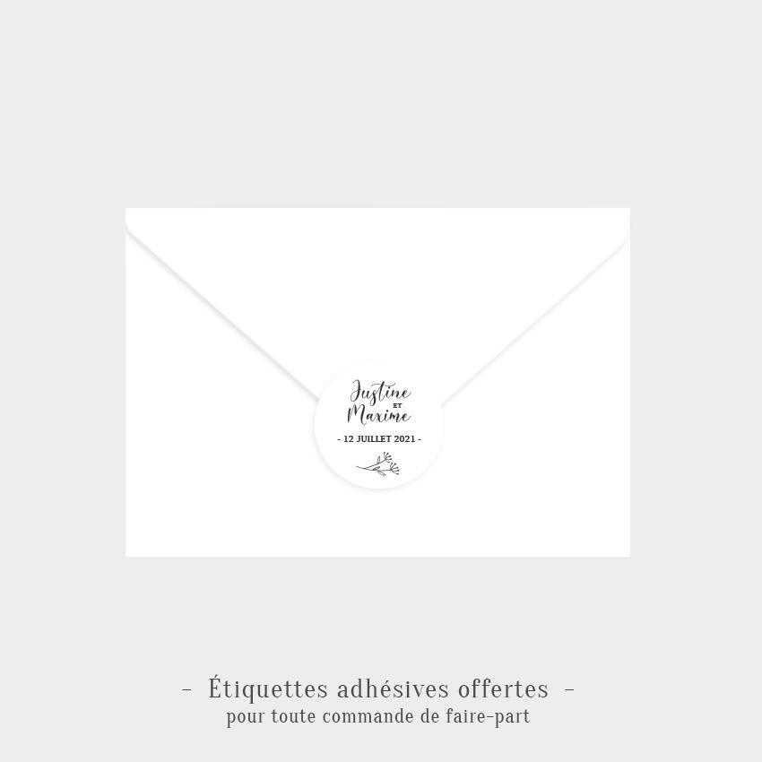 Etiquettes adhésives Infini tendresse offertes