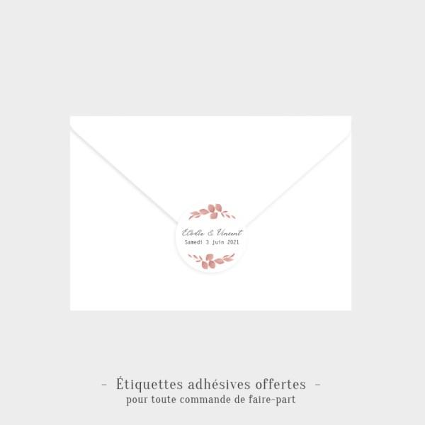 Etiquettes adhésives Romantique offertes