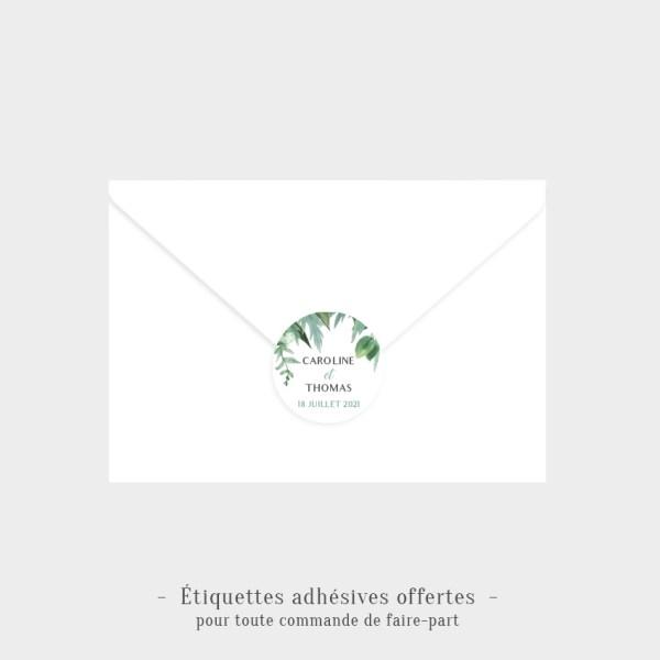 Etiquettes adhésives Tropical offertes
