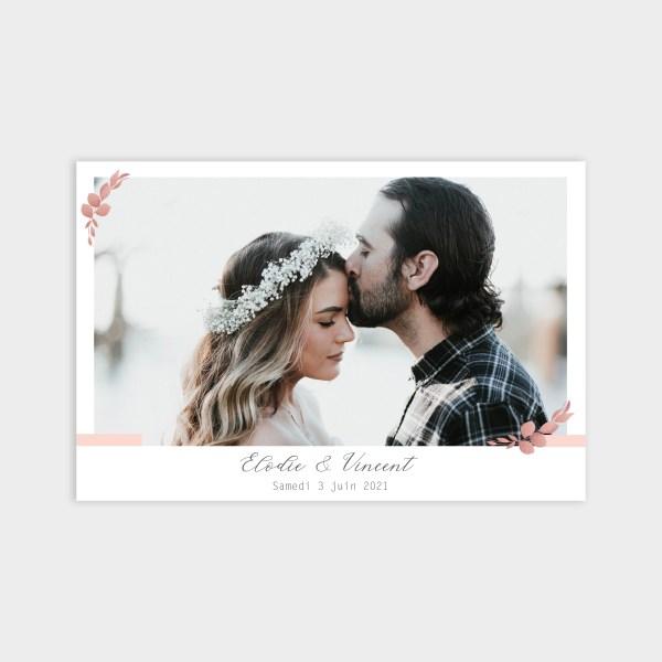 Faire-part de mariage Romantique