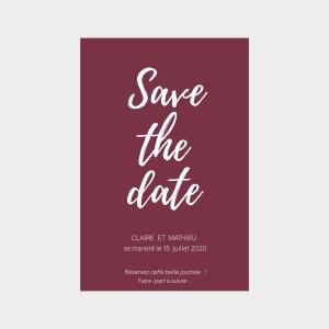 Save the date Chic lie de vin