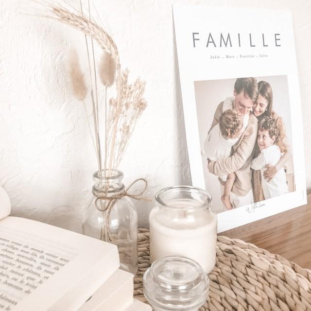 Affiche famille Nos jolis souvenirs