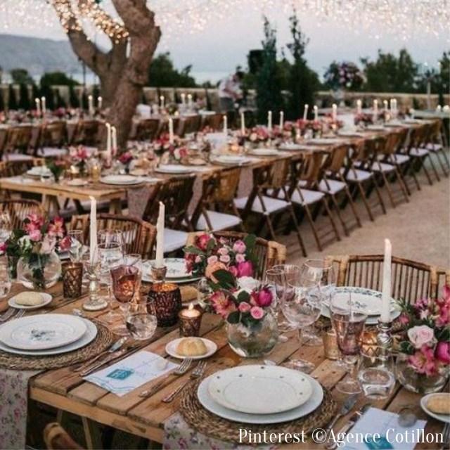 Table de mariage vintage