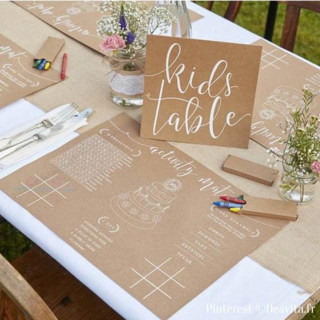Table enfant mariage