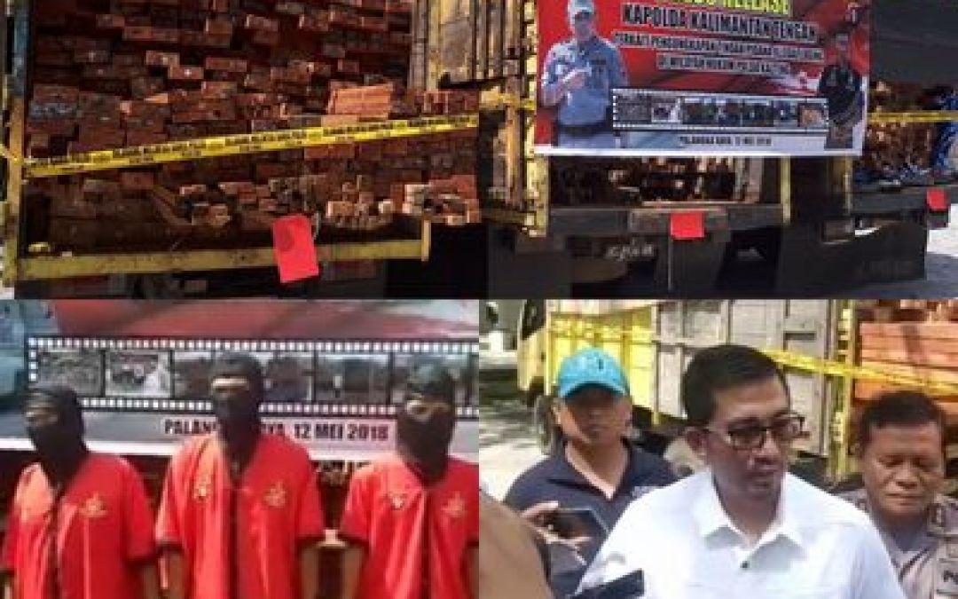 4 Pelaku Kayu Ilegal Di Tangkap Reskrimsus Polda Kalteng