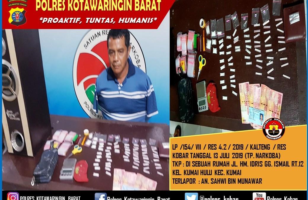 Bandar Sabu Dengan Barbuk 67 Paket Di Tangkap Sat Res Narkoba Polres Kobar