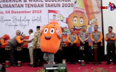 KPU Kalteng Launching Pemilihan Gubernur & Wakil Gubernur Tahun 2020