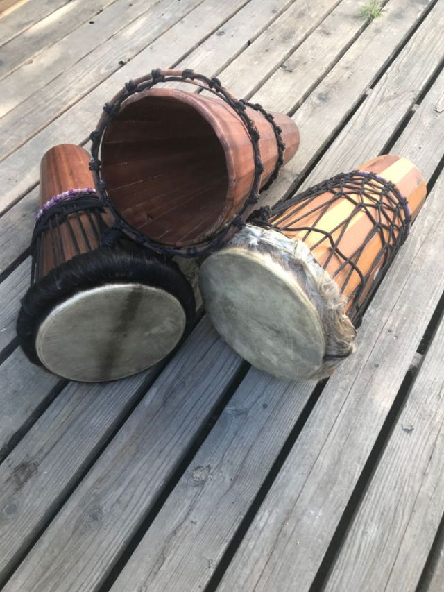 Some of my home-made drums