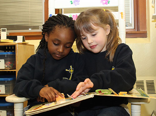 Girls reading together - Resources