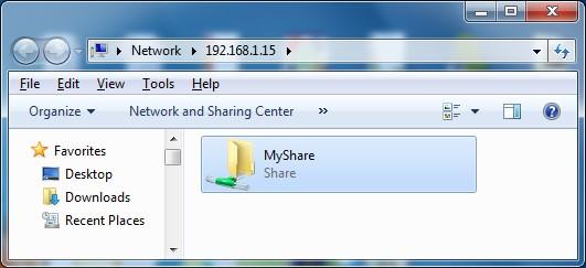 Successfully access to Samba share
