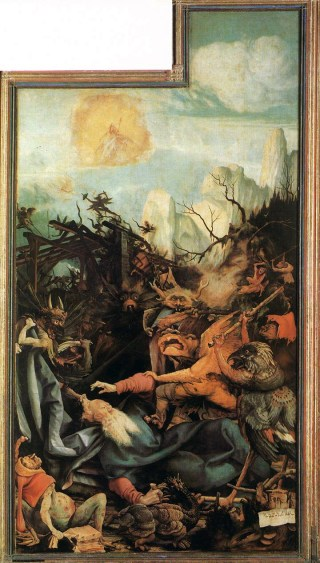 Matthias Grünewald - The Temptation of St. Anthony (1512-1516, oil on panel)