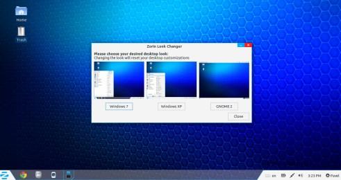 С помощью Zorin Look Change Linux можно превратить Windows 7 или Windows XP