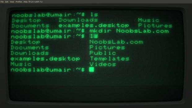 ретро терминал для Linux