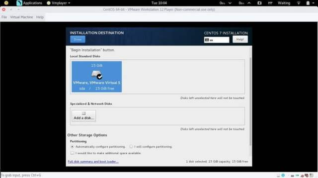 centos partitioning