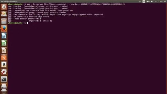 install rvm key