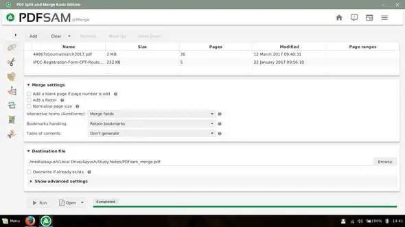 pdfsam merge pdf settings
