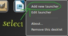 add or edit launcher desklet