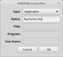add or edit launcher
