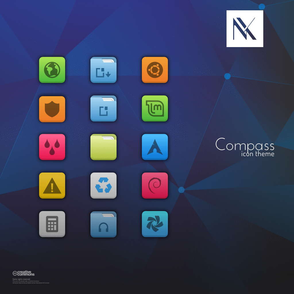 compass icon theme