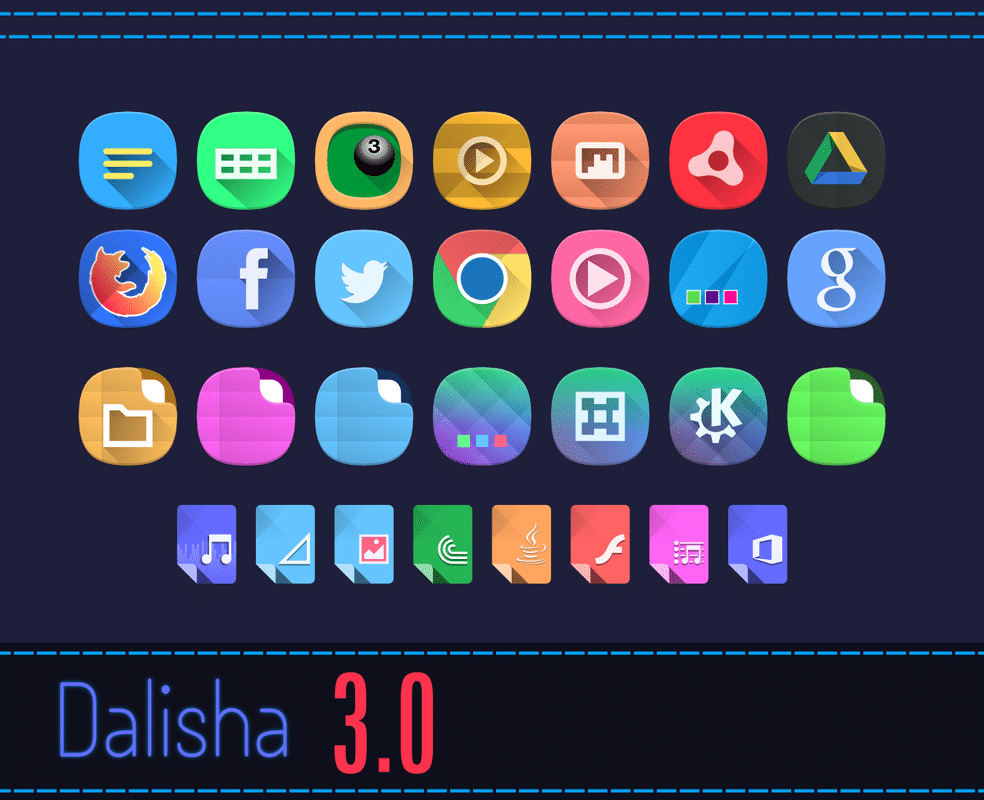 dalisha icon theme for linux