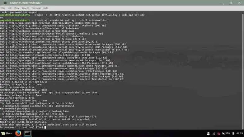 install avidemux in linux