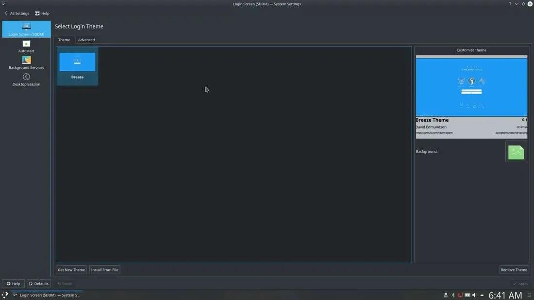 kubuntu 17.10 theme settings
