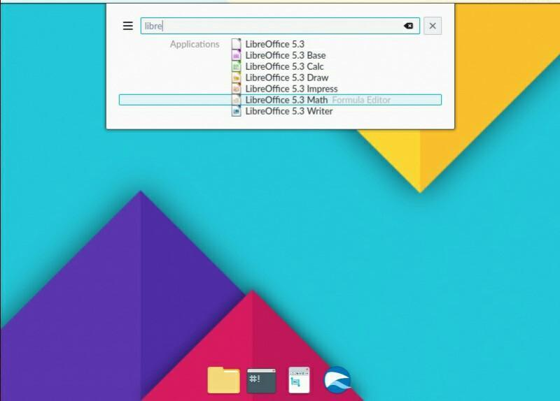 nitrux application menu